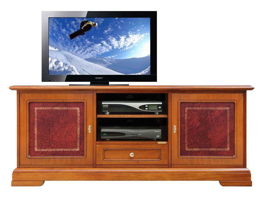 Mobile porta tv classico, mobile tv in legno con inserti in vera ...