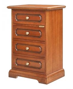 comodino linea classica, comodino classico, comodinoin legno, cassettiera, camera da letto