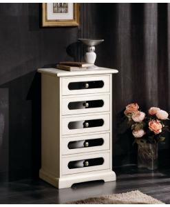cassettiera, cassettiera avorio, bianco, cassettiera bianca, arredo casa, camera da letto, mobile per camera da letto, cassettiera in legno