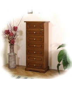 cassettiera in stile, cassettiera, arredo camera da letto, cassettiera in legno