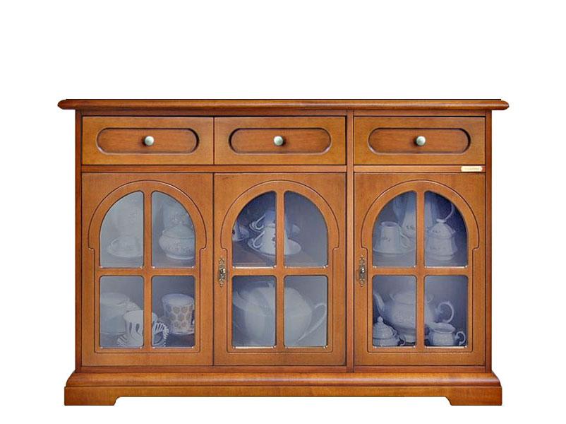 Credenza Classica Con Vetrina : Credenza classica in legno 3 ante con vetrine mobile classico per