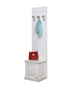 mobili ingresso, attaccapanni bianco, soluzione classica arredo ingresso