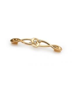 maniglia oro lucido, maniglia, maniglia Swarovski, accessori per mobili