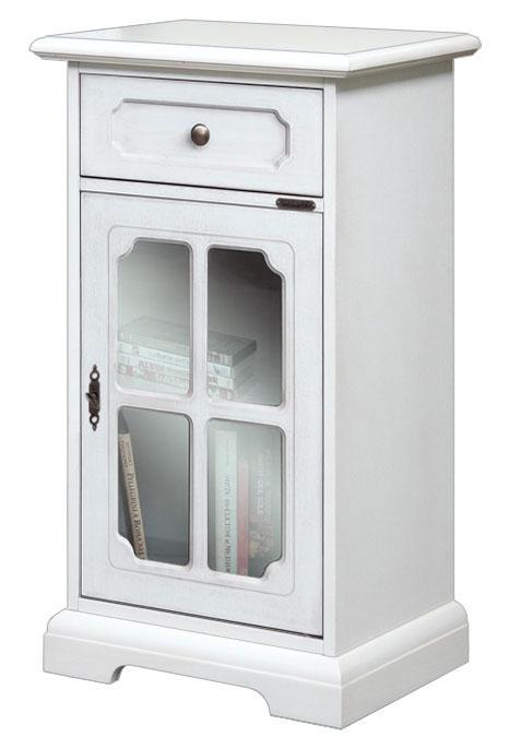 Mobile soggiorno mobiletto in legno bianco comodino - Mobiletto per telefono ikea ...