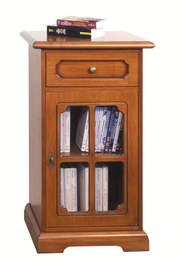 Mobiletto porta telefono, comodino in legno, mobile classico per ...