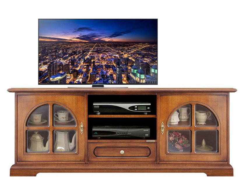 Mobili Tv Lunghi: Mobile porta tv b o in no bianco con decori. Mobile ...
