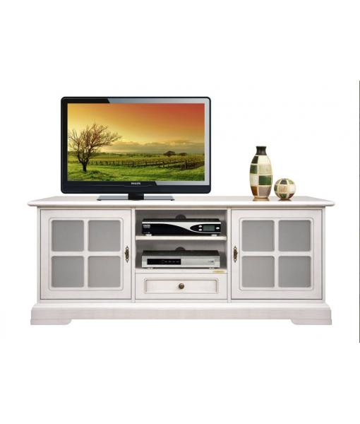 Porta tv basso 2 ante a vetrina. Codice prodotto: 3159-QG-plus