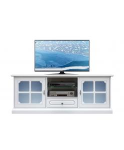Mobile tv laccato vetri azzurri