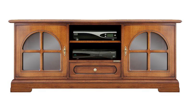 Mobile tv classico mobile porta tv in legno ciliegio con - Mobile porta tv classico legno ...