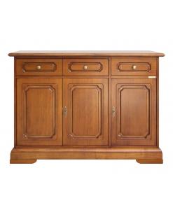credenza classica, stile classico, mobile per soggiorno, credenza in legno