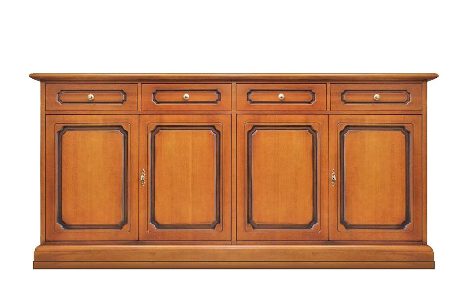 Credenza soggiorno classica 4 porte 4 cassetti - ArteFerretto