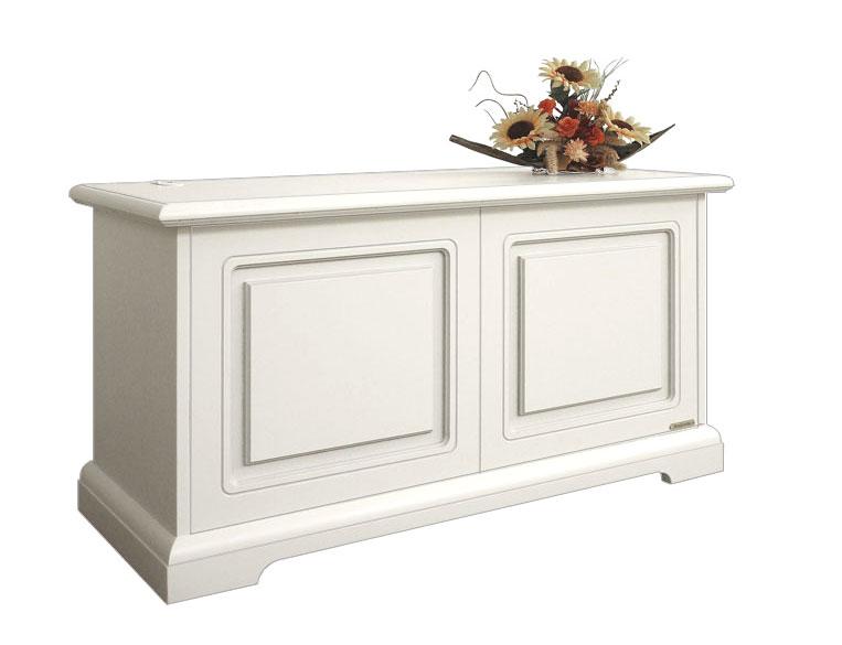 Cassapanca baule in legno 99x40x51h bianco avorio nuova for Cassapanca x bambini