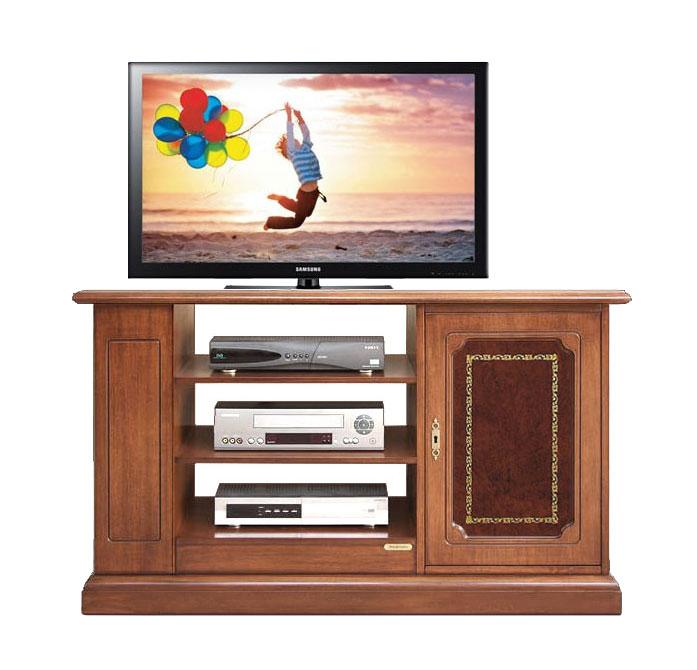 Mobile porta tv classico, mobile tv in legno +pelle, mobiletto ...