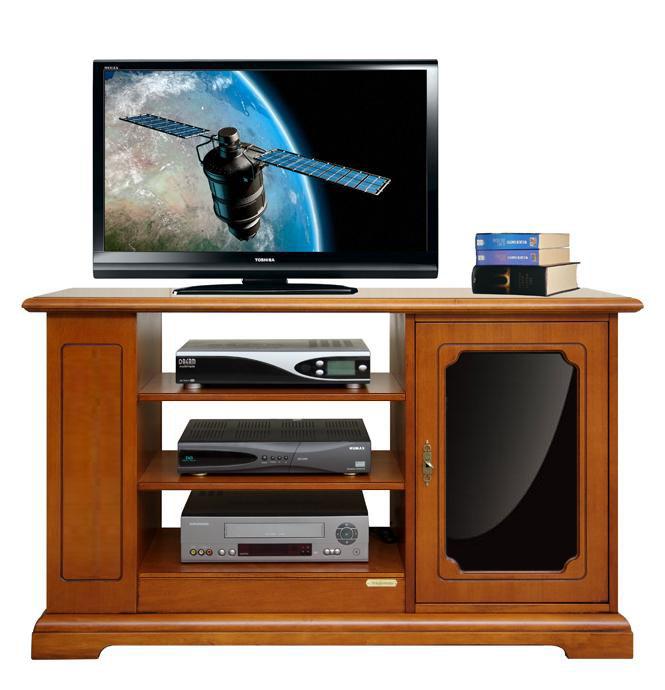 Porta tv con metacrilato nero arteferretto - Porta tv nero ...