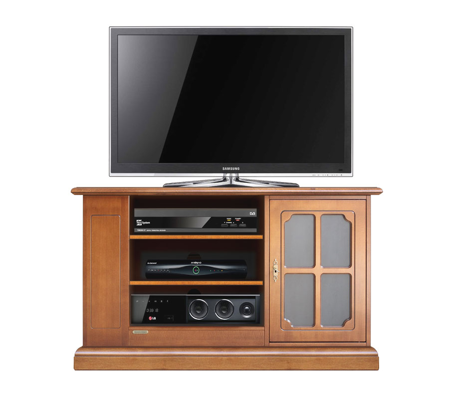 Mobile tv classico, mobile porta tv con vetrinetta e scaffali per ...