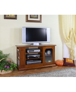 Porta tv in legno con anta vetrina