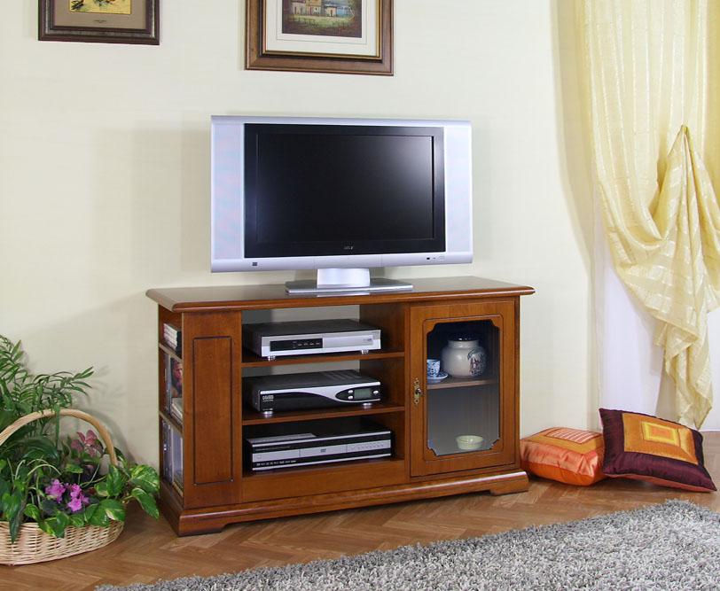 Mobile porta tv con vetrinetta e scaffali laterali per dvd - Porta dvd in legno ...
