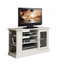 mobile porta tv, mobile tv, porta tv con vetrinetta, porta tv bianco, mobile porta tv laccato