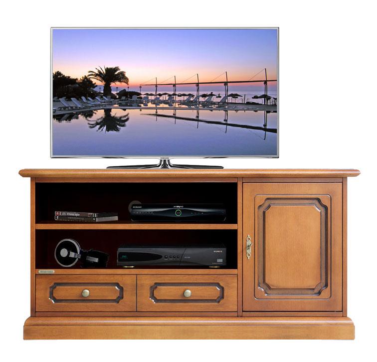 Mobile porta tv in legno mobile classico con cassetto - Mobile porta tv classico legno ...