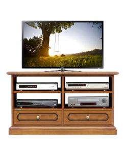Mobile porta TV da salotto con 2 cassetti e vani con ripiani regolabili, Arteferretto