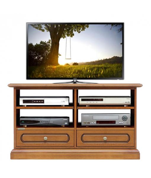 Mobile porta TV da salotto con 2 cassetti e vani con ripiani regolabili, Art. 3800-C