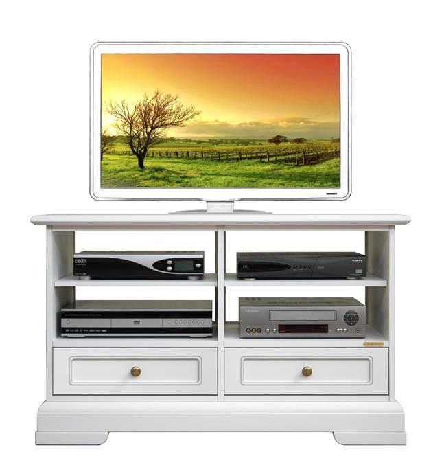 Mobile porta tv classico legno laccato bianco mobiletto for Mobiletto per salotto