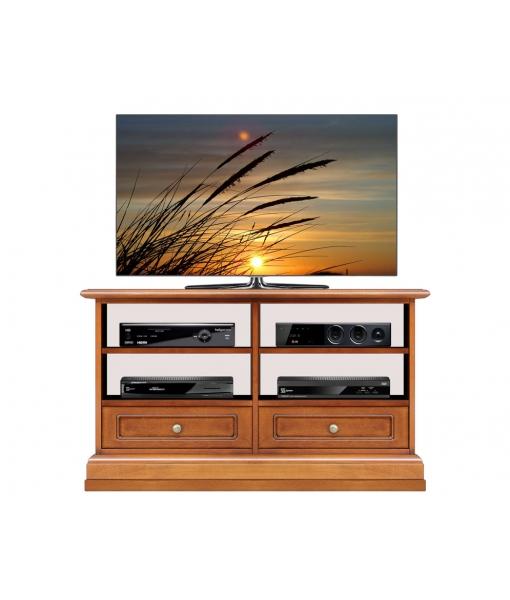 Mobile porta TV con 2 cassetti e ripiani regolabili, Art. 3800-QZ