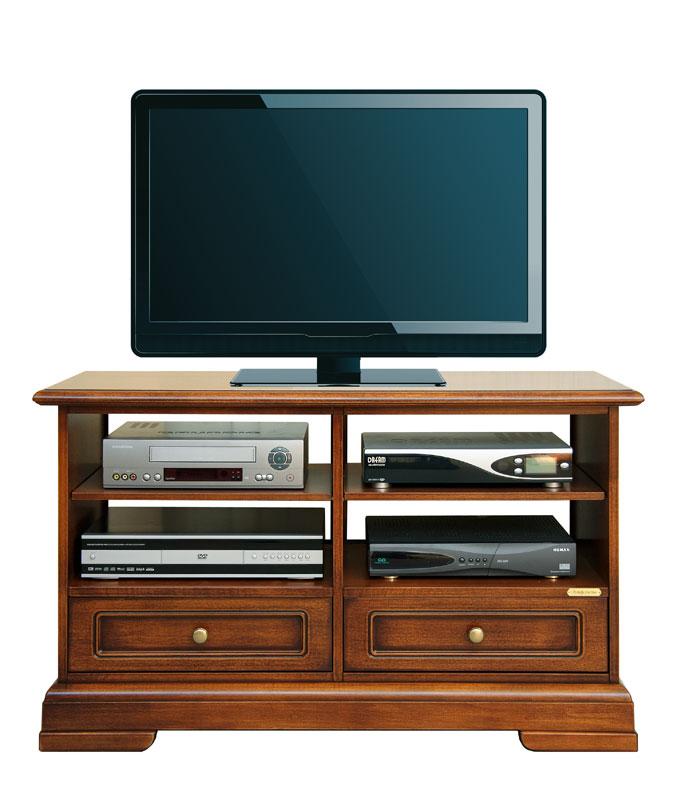 Mobile porta tv con 2 cassetti e ampi vani mobiletto tv - Mobile porta tv classico legno ...