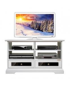 Mobile porta tv con due cassetti con plexiglass