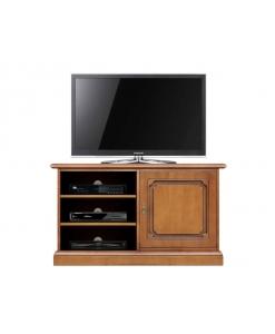 Mobile porta TV basso da salotto, mobile porta TV con anta e vani per apparecchi