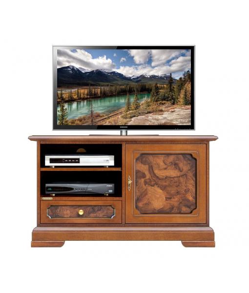 Mobile porta tv con inserti in radica, cod. articolo: 3820-AZS