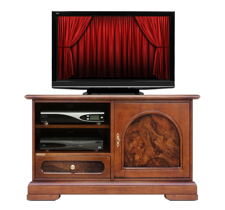 Mobile tv mobiletto porta tv in legno con radica mobile - Mobile porta tv classico legno ...