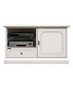 mobile tv midi, mobile in legno una porta e un cassetto