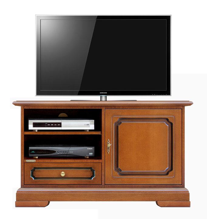 Porta tv midi classico con antina e cassetto arteferretto - Porta tv classico ...