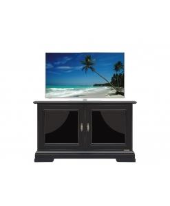 mobile porta tv basso nero, porta tv basso nero, mobile nero, porta tv