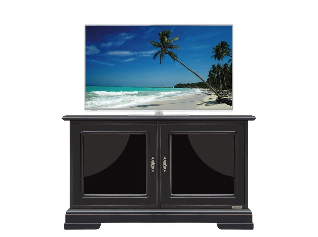 Porta tv basso nero con vetri laccati arteferretto - Porta tv nero ...