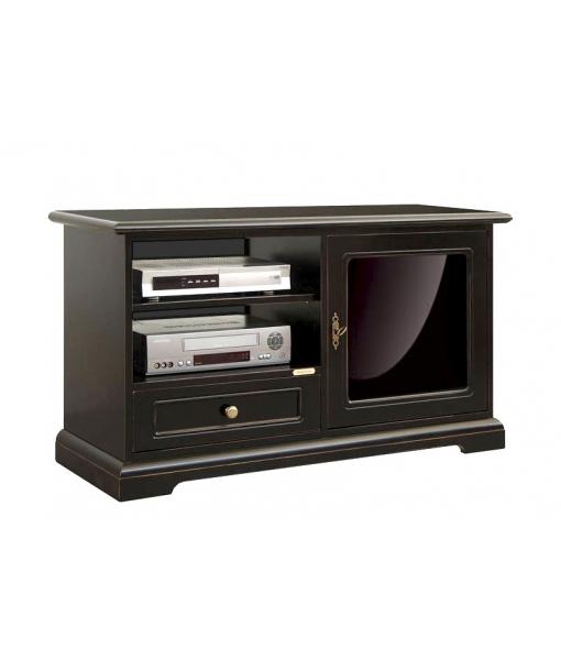 Porta tv nero anta vetro laccato nero arteferretto - Porta tv nero ...