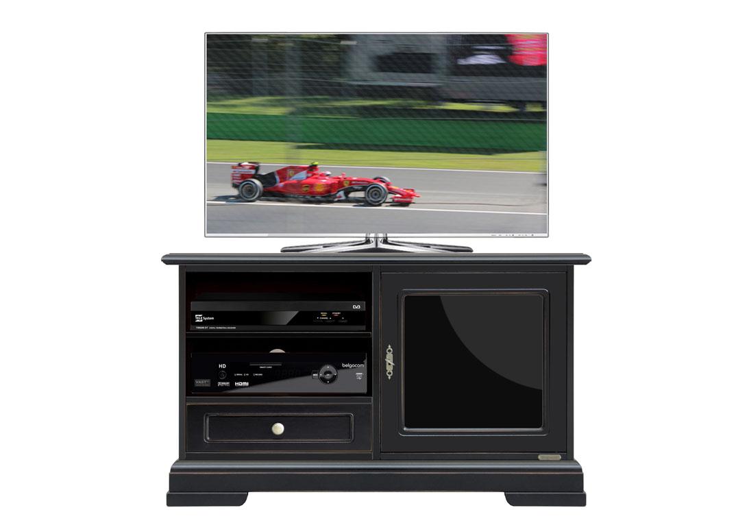 Mobile porta tv legno laccato nero, porta tv nero, mobile tv design ...