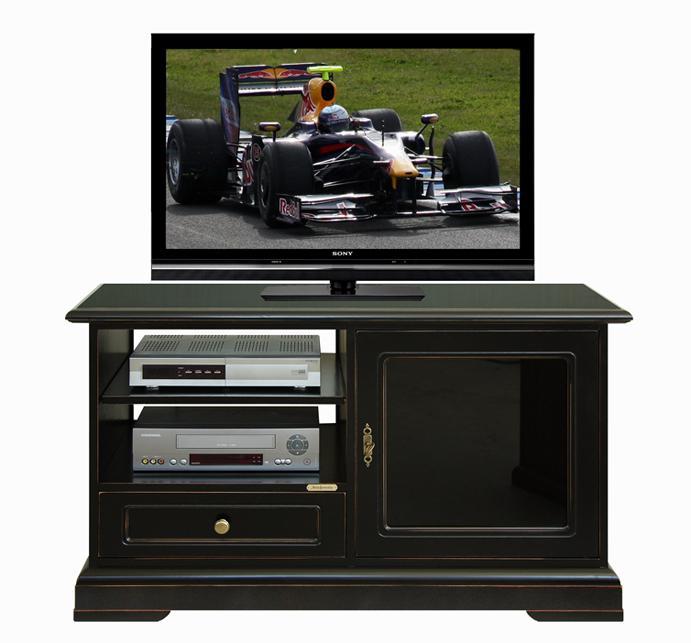Mobile porta tv legno laccato nero porta tv nero mobile tv design soggiorno ebay - Tv a scomparsa nel mobile ...