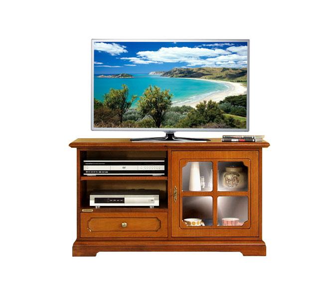 Mobile classico porta tv in legno con vetro e griglia pratico e resistente - Mobili porta tv in vetro ...