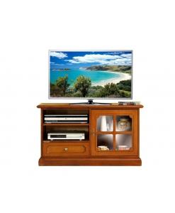 mobile tv anta vetrina, mobile porta tv in stile, porta tv in legno, porta tv classico