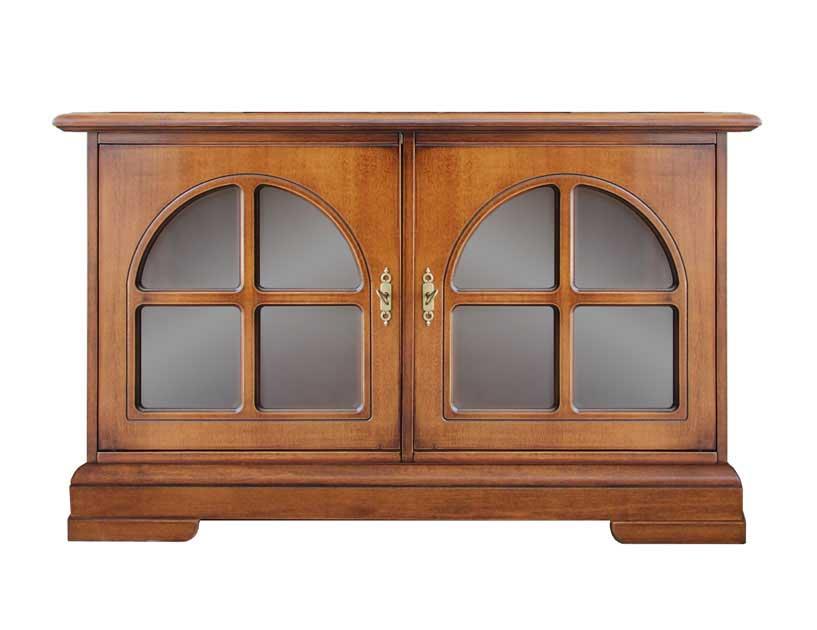 Credenza Bassa Con Vetrina : Mobile credenza in stile credenzina bassa legno con vetrine