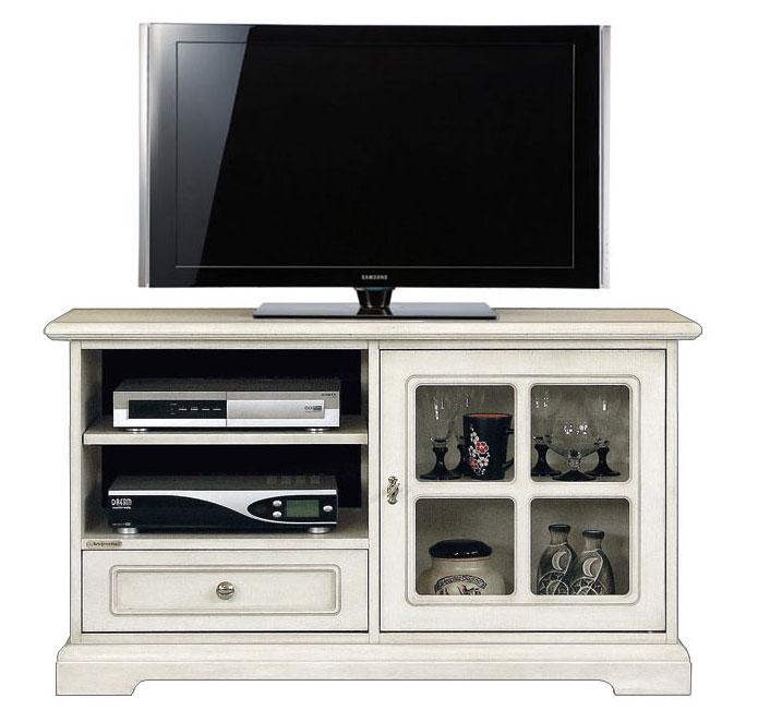 Mobile porta tv con vetrina e ampio vano per lettore dvd - Porta dvd in legno ...