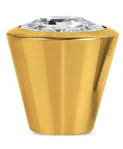 pomolo oro, pomolo oro con swarovski, pomolo, maniglia oro, maniglia, maniglia Swarovski, oro lucido, Swarovski
