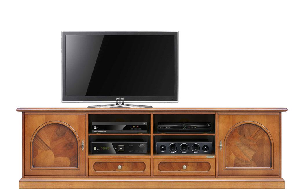 Mobile porta tv classico in legno e radica, mobile tv 2 metri per ...