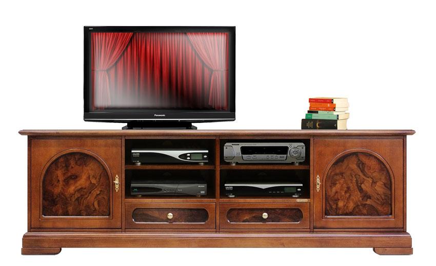Mobile porta tv classico in legno e radica mobile tv 2 - Mobile porta tv classico legno ...