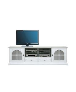 Base porta tv laccata white diamond