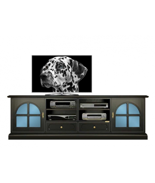 Porta tv 2 metri serie Black Arteferretto, Art. 4010-Black