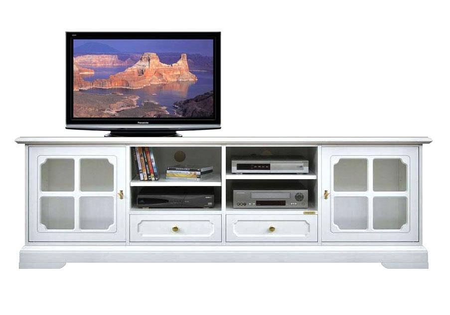 Mobile porta tv classico con vetrinette, mobile tv 2 metri legno ...
