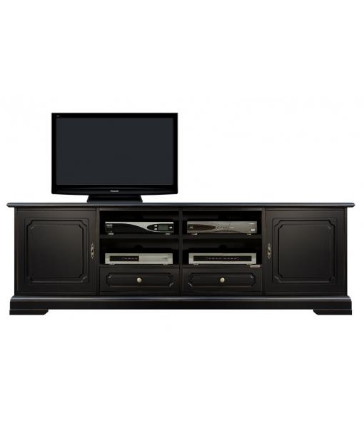 Base porta tv nera per soggiorno - ArteFerretto